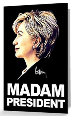 _hillary_clinton_madam_president__greeting_cards_by_shaggylocks___redbubble